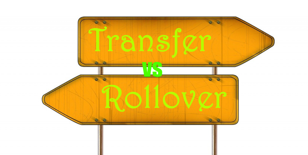 Difference between transfer and rollover