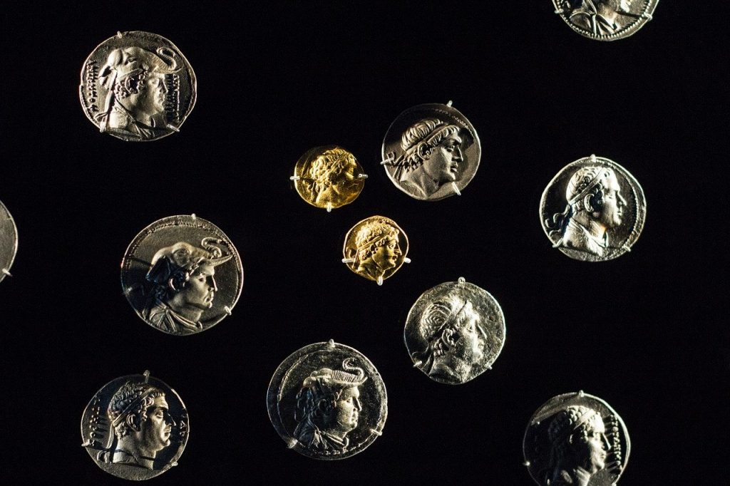 gold and silver ancient coins