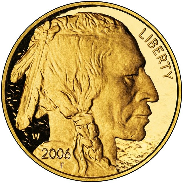 gold minted coin